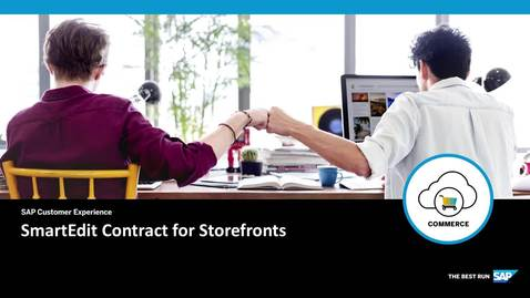 Thumbnail for entry SmartEdit Contract for Storefronts- SAP Commerce Cloud