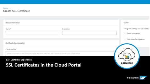 Thumbnail for entry SSL Certificates in the Cloud Portal - SAP Commerce Cloud