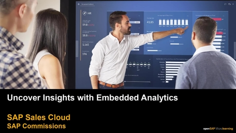 Thumbnail for entry Uncover Insights with SAP Commissions Embedded Analytics