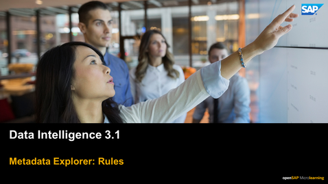 Thumbnail for entry Data Quality Rules - SAP Data Intelligence