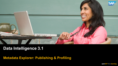 Thumbnail for entry Publishing & Profiling  - SAP Data Intelligence