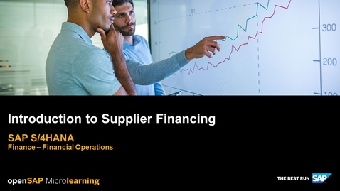 Thumbnail for entry Introduction to Supplier Financing - SAP S/4HANA Finance