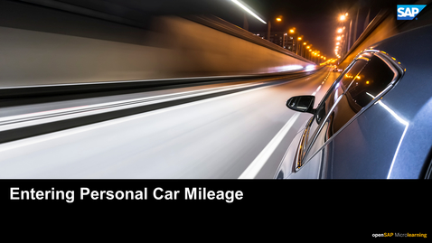 Thumbnail for entry Entering Personal Car Mileage - SAP Concur