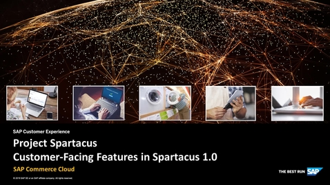 Thumbnail for entry Customer-Facing Features in Spartacus 1.0 - SAP Commerce Cloud