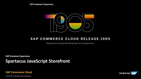 Thumbnail for entry Spartacus - SAP Commerce Cloud Release 1905