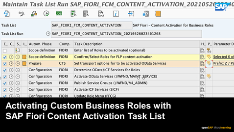 Thumbnail for entry Activating SAP Fiori Content in Custom Business Roles - SAP S/4HANA