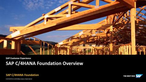 Thumbnail for entry Overview - SAP C/4HANA Foundation