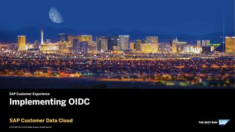Thumbnail for entry Implementing OIDC - SAP Customer Identity