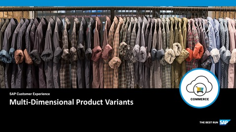 Thumbnail for entry Multi-Dimensional Product Variants - SAP Commerce Cloud