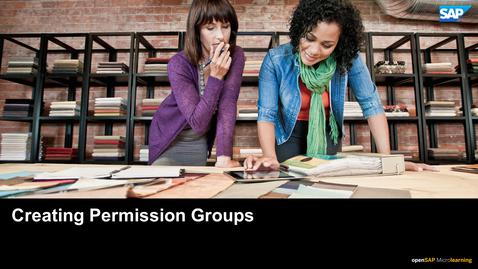 Thumbnail for entry Creating Permission Groups - SAP SuccessFactors