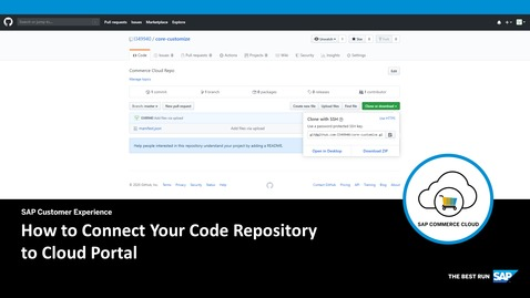 Thumbnail for entry How to Connect Your Code Repository to Cloud Portal- SAP Commerce Cloud