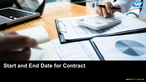 Thumbnail for entry Start and End Date for Contract - SAP Business ByDesign