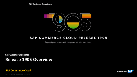 Thumbnail for entry Overview - SAP Commerce Cloud Release 1905