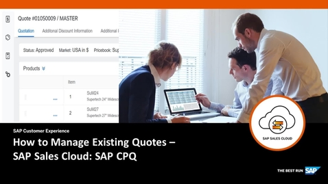 Thumbnail for entry How to Manage Existing Quotes - SAP CPQ