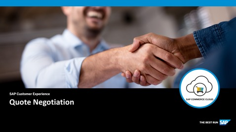Thumbnail for entry Quote Negotiation - SAP Commerce Cloud