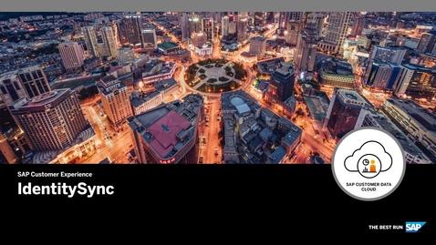 Thumbnail for entry IdentitySync - SAP Customer Data Cloud