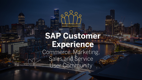 Thumbnail for entry Impressions - SAP CX User Community Australia