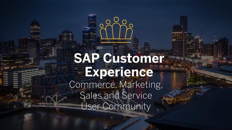 Thumbnail for entry Impressions - SAP CX User Community Australia