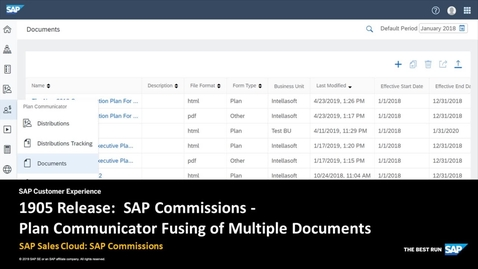 Thumbnail for entry 1905 Release: Plan Communicator Fusing of Multiple Documents - SAP Sales Cloud:  SAP Commissions