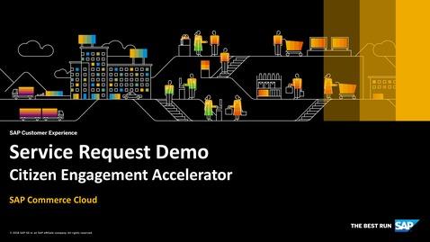 Thumbnail for entry Service Request Demo - SAP Commerce Cloud - Citizen Engagement Accelerator