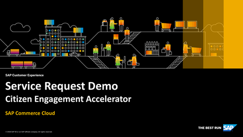 Thumbnail for entry Service Request Demo - SAP Commerce Cloud - Citizen Engagement Accelerator