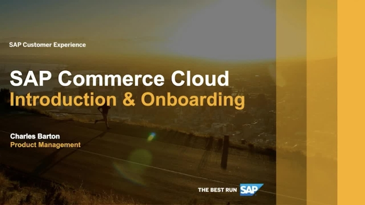 SAP Commerce Cloud: Introduction and Onboarding - Webinar