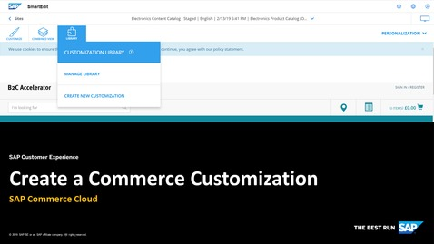 Thumbnail for entry Create a Commerce Customization - SAP Commerce Cloud