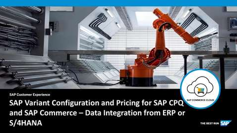 Thumbnail for entry Smart Data Integration from SAP ERP and SAP S/4HANA to SAP CP - SAP Commerce Cloud