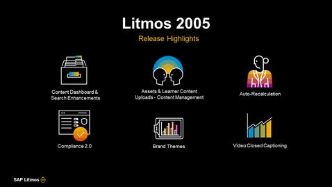 Thumbnail for entry SAP Litmos Solutions – 2005 Release Features - Webinars