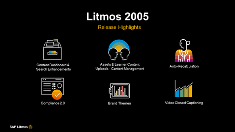 Thumbnail for entry [ARCHIVED] SAP Litmos Solutions – 2005 Release Features - Webinars