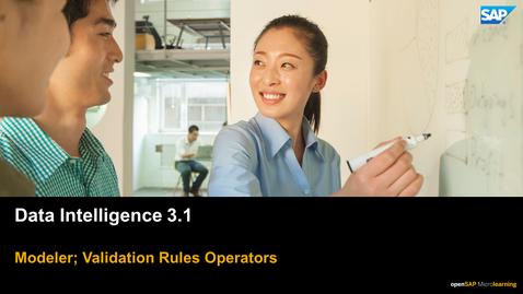 Thumbnail for entry Validation Rules - SAP Data Intelligence