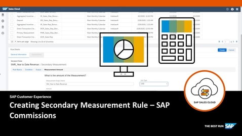 Creating Secondary Measurement Rule - SAP Commissions