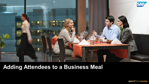 Thumbnail for entry Adding Attendees to a Business Meal - SAP Concur