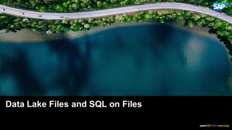Thumbnail for entry Data Lake Files and SQL on Files - SAP HANA Cloud