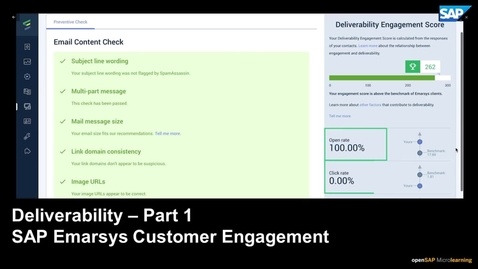 Thumbnail for entry Deliverability Part 1 - SAP Emarsys Customer Engagement