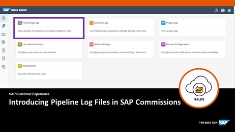 Thumbnail for entry Introducing Pipeline Log Files in SAP Commissions