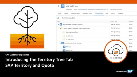 Thumbnail for entry Introducing the Territory Tree Tab in SAP Territory and Quota