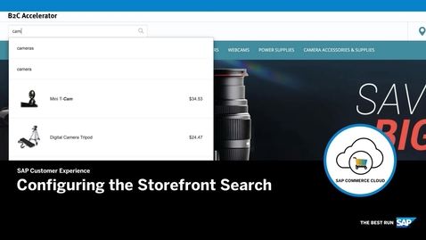Thumbnail for entry Configuring the Storefront Search- SAP Commerce Cloud