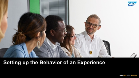 Thumbnail for entry Setting up the Behavior of an Experience - SAP Upscale Commerce