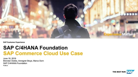 Thumbnail for entry SAP Commerce Cloud Use Case - SAP C/4HANA Foundation - Webinars
