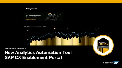Thumbnail for entry New Analytics Automation Tool – SAP CX Enablement Portal