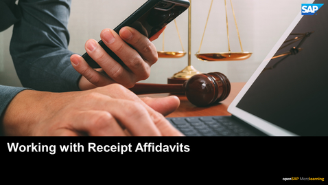 Thumbnail for entry Working with Receipt Affidavits - SAP Concur