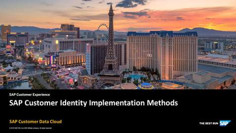 Thumbnail for entry SAP Customer Identity Implementation Methods - SAP Customer Data Cloud