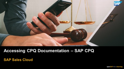 Thumbnail for entry Accessing CPQ Documentation - SAP CPQ