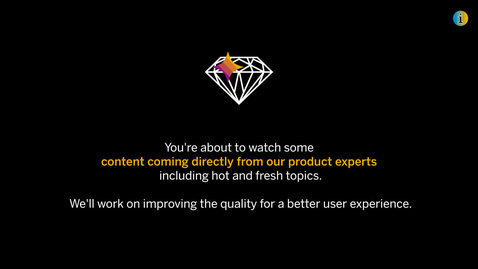 Thumbnail for entry Bumper Video for Direct from Product Experts - openSAP Microlearning