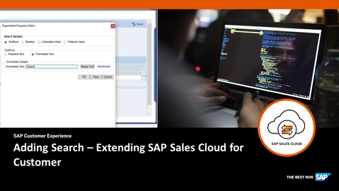 Thumbnail for entry Adding Search  - Extending SAP Cloud for Customer