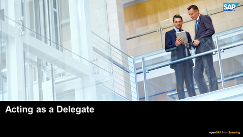 Thumbnail for entry Acting As A Delegate - SAP Concur