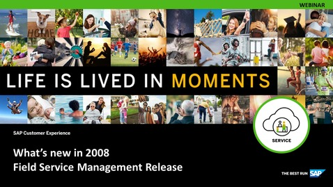 Thumbnail for entry SAP Field Service Management 2008 Release Demo - Webinars