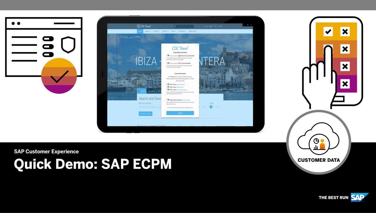 Quick Demo for SAP ECPM - SAP Customer Data Cloud