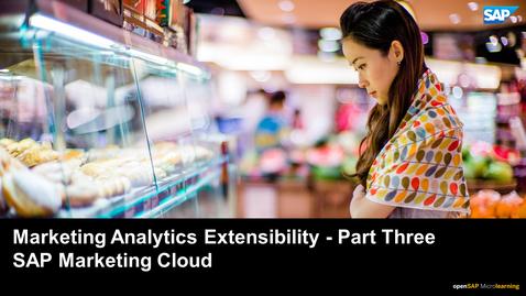 Thumbnail for entry Marketing Analytics Extensibility - Part 3 - SAP Marketing Cloud